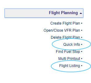 Flight Listing